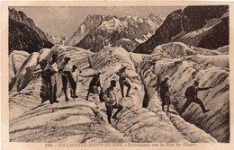 74 - CHAMONIX-MONT-BLANC - 889 - Crevasses Sur La Mer De Glace - Chamonix-Mont-Blanc
