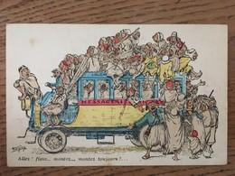 """Cpa, Illustrateur Chagny, Humour, """"allez ! Fissa..montez..montez Toujours !"""",Chagny éd Alger, écrite De Biskra - Chagny"""