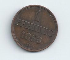 1 PFENNIG ROYAUME DE HANOVRE GEORGES V 1853 - [ 1] …-1871 : Estados Alemanes