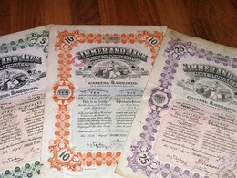 Simmer And Jack Mines / Johannesburg - Titres De 5 -10 -25 Shares De 2 Shillings And 6 Pence Each - Londres1925 - 1926 - Mijnen