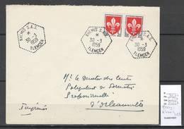 Algerie - Lettre  - Cachet Hexagonal KHEMIS SAS -  Marcophilie - Algeria (1924-1962)