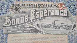 Charbonnage De Bonne-Espérance - Lambusart - Part Sociale - 1922. - Mijnen