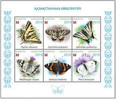 Kazakhstan 2019.Souvenir Sheet. Butterflies Of Kazakhstan. NEW!!! - Plants