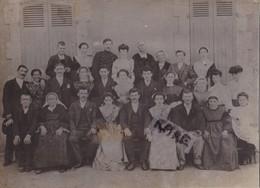 PHOTO ANCIENNE,BRETAGNE,56,MORBIHAN,LORIENT,1901,FAMILLE CANNUEL,COMMERCANT,HORLOGER,BIJOUTIER,RARE,FETE - Lieux