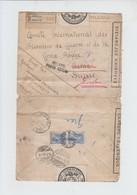 ENVELOPPE  RECOMMANDE DE GRECE VERS BERNE CROIX ROUGE - MILANO POSTA ESTERA - REEXP GENEVE - CENSUREE  1919 - Grecia