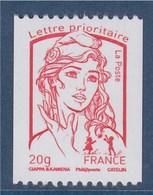 = Marianne Et La Jeunesse Gommé Roulette LP -20g N°400 Noir à Droite N° 4779 Phosphore Continu Ciappa Kawena - Rollo De Sellos
