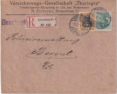 ALLEMAGNE 1914 LETTRE RECOMMANDEE DE KÖNIGSBERG AVEC CACHET ARRIVEE BERENT - Alemania