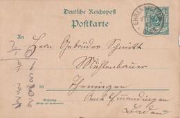 ALLEMAGNE 1893   ENTIER POSTAL/GANZSACHE/POSTAL STATIONERY CARTE DE EHRENSTETTEN - Stamped Stationery
