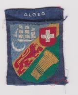 ECUSSON - INSIGNE TISSU Ancien : SCOUTS / ALGER / ALGERIE / AFRIQUE DU NORD - Scouting