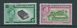 Pitcairn Islands 1940 - 1951 KGVI Definitives Later Issued 4d & 8d MLH - Pitcairn Islands