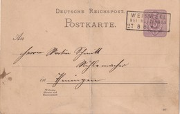 ALLEMAGNE 1887   ENTIER POSTAL/GANZSACHE/POSTAL STATIONERY CARTE DE WEISWEIL - Alemania
