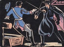 "Carte ""VELOURS / FLUO "" 10x15 . ZORRO (W. Disney) - Cartes Postales"