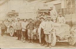 Guerre 1914-18 Auto Bazars Felix Potin 3ème Armée Camions Et Lieu A Definir - Foto
