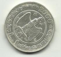 2000 - Italia 1 Lira Argento - Storia Della Lira - Senza Confezione - Commémoratives
