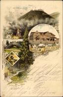 Lithographie Brotterode Trusetal In Thüringen, Inselsberg, Thorstein, Gothaisches Hotel, Zwerg - Altri