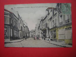 CPA  PALAISEAU RUE DE PARIS PRES DE LA PLACE  ANIMEE   VOYAGEE 1907 TIMBRE - Palaiseau