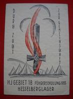 "HJ-Karte ""Gebiet 18 Führerschulung 1935 Hesselberglager , Gelaufen 1935 !! - Germany"