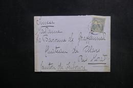 HONGRIE - Enveloppe Du Comitat De Somogy Pour La Suisse En 1903, Affranchissement Plaisant - L 49337 - Hongrie