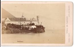 AIX LES BAINS 1852  - Photo Cdv DEMAY Abbaye D Haute Combe  Las Du Bourget - Antiche (ante 1900)