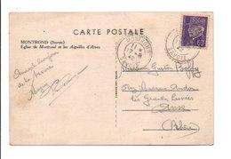 PETAIN SUR CARTE DE MONTROND SAVOIE 1942 - Marcophilie (Lettres)