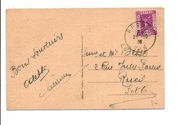 CARTE DE BORMES VAR 1936 - Marcophilie (Lettres)