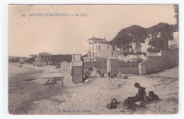 ANTIBES JUAN LES PINS La Plage (carte Animée) - Antibes