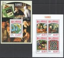 ST2515 2013 MOZAMBIQUE MOCAMBIQUE SPORT CHESS HISTORY XADREZ DUCHAMP KLEE GRIS KB+BL MNH - Ajedrez