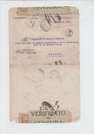 ENVELOPPE  EN FRANCHISE DE GRECE VERS GENEVE CROIX ROUGE - MILANO POSTA ESTERA -  - CENSUREE  1919 - Grecia