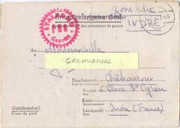 GUERRE 39-45 COR.PRISONNIER DE GUERRE Français Stalag II D Stargard, Pologne - Rédigé Le 11-1-1942 - Marcophilie (Lettres)