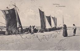 POLOGNE 1923 CARTE POSTALE DE KAHLBERG/KRYNICA  MORSKA   AM OSTSEESTRAND - Poland
