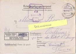 GUERRE 39-45 COR.PRISONNIER DE GUERRE Français Stalag III A 48 Luckenwalde, Allemagne – Rédigé Le 2-7-1944 - Marcophilie (Lettres)