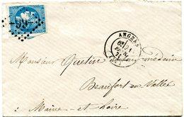 MAINE ET LOIRE De ANGERS Env. Du 21/02/1871 Avec Bordeaux N°46 Type 2 Oblitéré GC 99 - 1849-1876: Classic Period