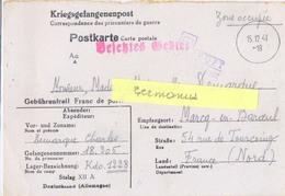 GUERRE 39-45 COR.PRISONNIER DE GUERRE Français Stalag XII A /21 Limburg An Der Lahn – Rédigé Le 7-12-1941 - Guerra De 1939-45