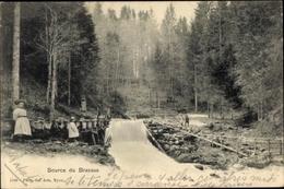 Cp Kanton Waadt, Source Du Brassus, Waldpartie Mit Flussquelle, Kinder - VD Vaud