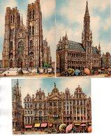 Illustrateur : Barday :Lot De 3 Cartes  Barré-Dayez : Bruxelles 2300 A,C Et E - Barday