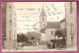 Cpa Chantes Place De L'Eglise - Animée - éditeur Rohez Masson - France