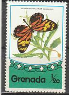 PIA - GRENADA - 1976 : Fauna Di Grenada - Farfalla Coereba Flaveola - (Yv 646) - Grenada (1974-...)