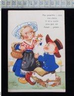 CPA Illustrée Beatrice Mallet - Mallet, B.