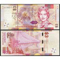 BAHAMAS 3 Dollars 2019 UNC P New 2019 - Bahama's