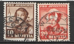 Helvetia 1942 Cancelled At A - Suiza