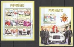 ST2628 2013 MOZAMBIQUE MOCAMBIQUE TRANSPORT CARS AUTOMOBILES POPEMOBILES KB+BL MNH - Cars