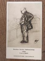 CPM, Docteur XAVIER TARTACOVER (TARTAKOVER), 1956, Illustrateur Signé A.Baratz, écrite En 1965 - Echecs