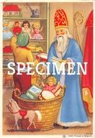 Sinterklaas En Zwarte Piet Met Een Mand Vol Speelgoed - Saint-Nicolas