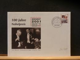 84/737  ENVELOPPE ALLEMAGNE  2001 - Nobel Prize Laureates