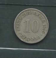 Monnaie Allemagne 10 Pfennig 1899 Laupi 11807 - 10 Pfennig