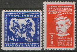 Yugoslavia 1945 Red Cross, MNH (**) Michel 459-460 - Nuovi