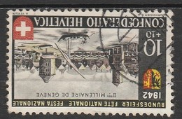 Helvetia 1942 Cancelled At A - Svizzera