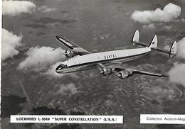"""AVION--LOCKHEED L. 1049  """" Super Constellation """" ( U.S.A. )---collection Aviation-magazine---voir 2 Scans - 1946-....: Modern Era"""