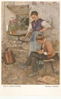 """Jos. E. Horwarter. Boy And Girl. Strene Aufsicht"" Fine Painting, Vintage German Postcard - Niños"