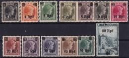 L-Luxembourg 1940, Freimarken Luxemburg Mit Deutschem Aufdruck (B.2329.2) - Besetzungen